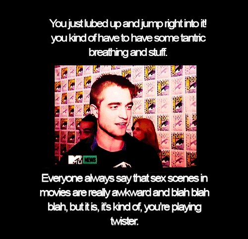 My Robert from a interview from 2011 Comic-Con,with a quote using the word awkward in the quote.