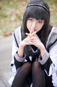 A cosplay of Homura Akemi from PMMM