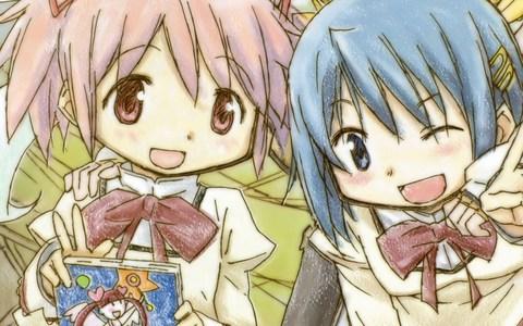 Madoka Kaname and Sayaka Miki are best friends! c:
