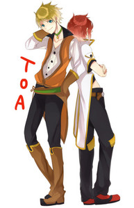 How about Tales of the Abyss. Guy Cecil (left) and Luke Fon Fabre (right)