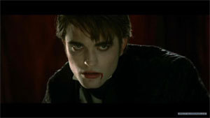 Here is a pic of my Robert,in a scene from Twilight where he looks Supernatural and vampire like with blood on the side of his mouth.I wish he'd bite me like he did Bella<3