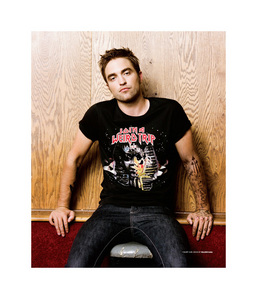this is as close as I could find of my Robert touching a wall<3