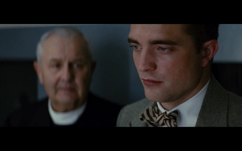 my Robert,in a scene from Water for Elephants crying because his parents had just died.Awww,my poor baby.I will kiss away your tears<3