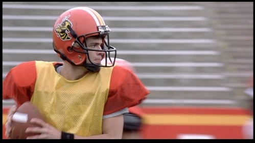 Matthew focusing on the football game. :)
