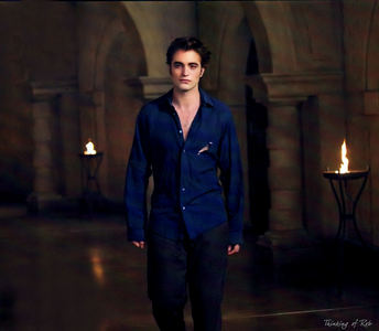 my Robert in a dark blue شرٹ, قمیض and looking oh so sexy,but what else is new?He's always sexy 24/7<3