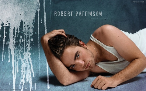 here is my sexy,HOT Robert in a white vest/wife beater(although why they call it that is beyond me)<3