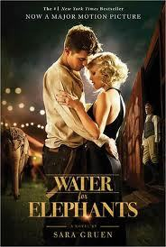 Robert,with Reese Witherspoon,on the movie book cover of Water for Elephants<3