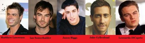 I think these actors: Matthew, Ian, Jason, Jake & Leonardo makes great boyfriends/husbands on films. :)