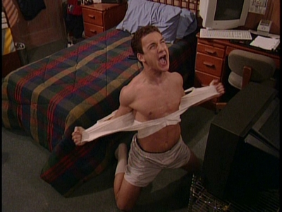 Matthew's co-star, Ben Savage screaming the hàng đầu, đầu trang of his lungs!!! XD