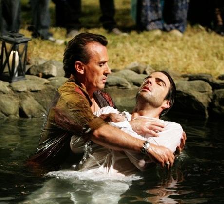 wet, because of playing Jesus
