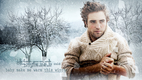 my Robert photoshopped into a picture.Robert,baby,you can warm me up anytime.We can sit in front of a roaring fire,listen to some soft romantic موسیقی and then...well,you know<3