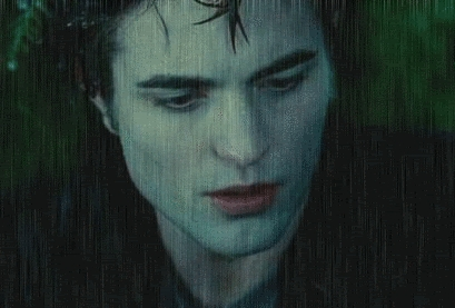 my Robert wet from the rain.Like that Adele song,he set brand to the rain.Rob,you need to take those wet clothes off,baby<3