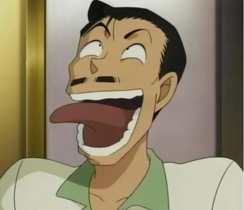 Mouri Kogoro-san from Meitantei Conan comes to mind..if he's considered one. and since most of my favoritos have been posted already I'll go with him but he's serious when he needs to be or wants to be.