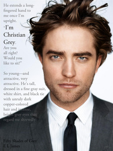 my Robert with a grey suit.Robert is and always will be MY 50 SHADES OF GREY!!!!!!<3