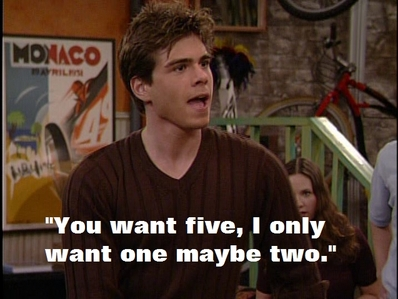 Jack (Matthew Lawrence) talks about children over the future.