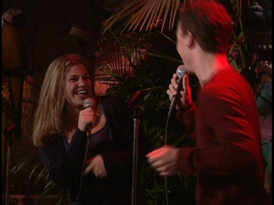 Matthew's co-stars Ben Savage & Danielle Fishel's faces, a little red from a red light. :)