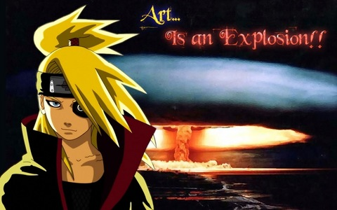 DEIDARA FROM Naruto SHIPPUDEN IS OBSESSED WITH HIS ART XD