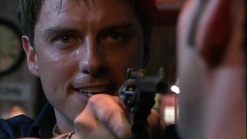 John Barrowman as Captain Jack Harkness angry! Dont want to get onto his bad side... :/
