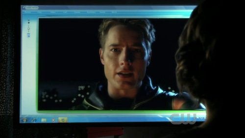 """Justin/Oliver video-conferencing with Chloe (from """"Absolute Justice"""")"""