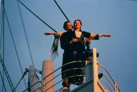 Leo & Kate on a ship (Titanic). :)