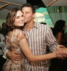 David Boreanaz with Emily Deschanel
