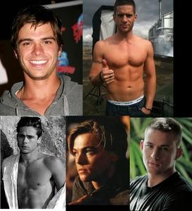 My Hotties are: 1. Matthew Lawrence 2. Dan Ewing 3. Leonardo DiCaprio 4. Channing Tatum 5. Brad Pitt