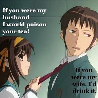 Haruhi and Kyon....haha...
