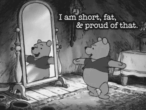 """This one. ~ :) My friend found it on Tumblr and showed it to me a few days geleden when I was depressed along with a message saying: """"Learn from Pooh bear! :)"""" After that I started to cheer up."""