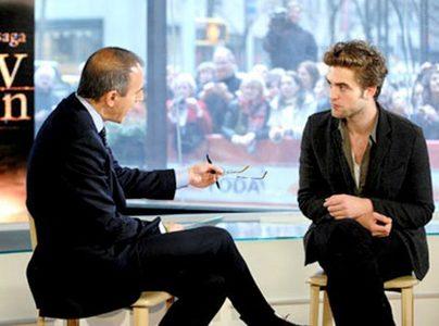 my Robert with Today toon interviewer,Matt Lauer
