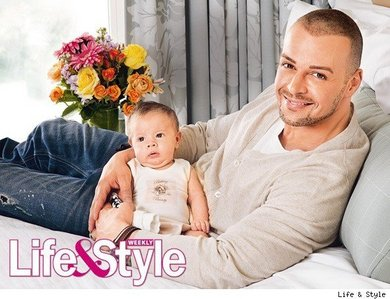 Matthew's brother, Joey and his baby daughter, Liberty. <33333