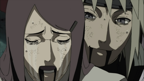 Minato and Kushina's death was so puso breaking. :'(