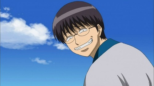Shinpachi Shimura of course :3 He is 95% glasses 3% water and 2% garbage XD