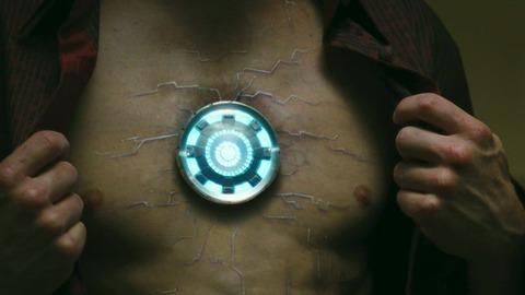 Tony's chest in Iron Man 2 - looking very ill =/