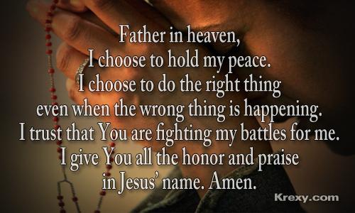 I'd pray.