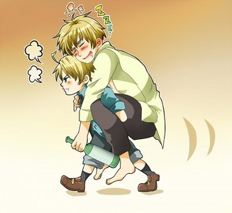Haha~ I remember this! xD It's America and England from Hetalia
