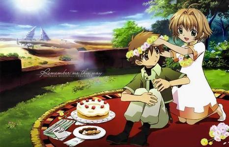 Syaoran and Sakura from Tsubasa: Reservoir Chronicle.
