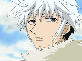 Hatsuharu Sohma from Fruits Basket has both white and black hair<3