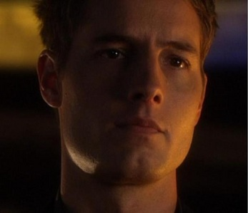 """Justin with an expression we happened to see on smallville quite a lot (from """"Collateral"""")"""