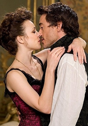 Sherlock Holmes with Irene Adler wearinf a collier :)) ador them...