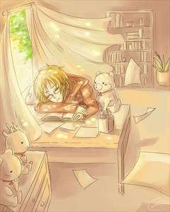 No school au homework. Ever. I hates school >.<