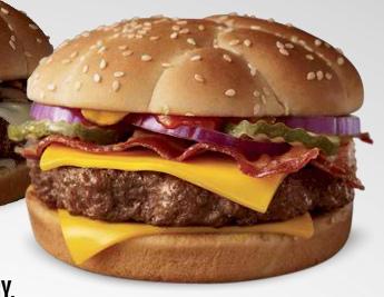 thịt ba rọi, thịt xông khói angus burger and a dr pepper form mc donalds