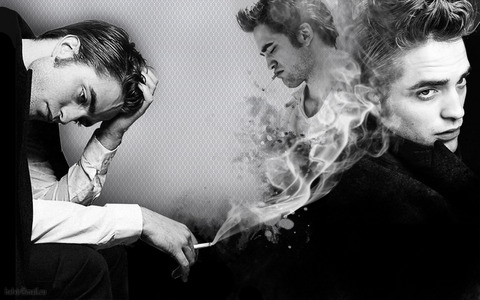 my SMOKING HOT Robert in b&w!!! He truly is smoking hot and the proof is in the picture<3
