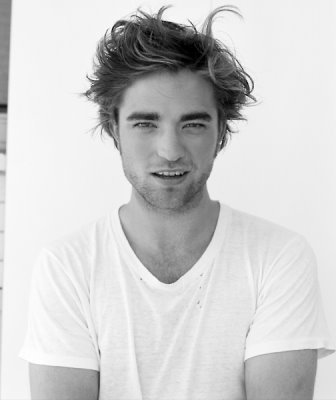 my Robert with some of his hair sticking up.What a beautiful head of hair.I just want to run my fingers through it.<3