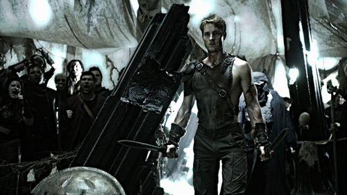 "Justin as a modern-day gladiator in ""Dominion"" (yummy!!!)"