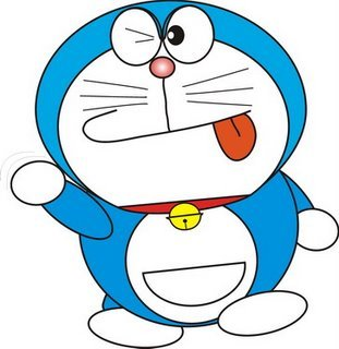 Doraemon!! haha I don't know what character can see futute :)))