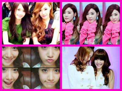 Yoona and Tiffany :) Yoona first got my heart then Tiffany. Sooyoung, Jessica and Seohyun next to them.