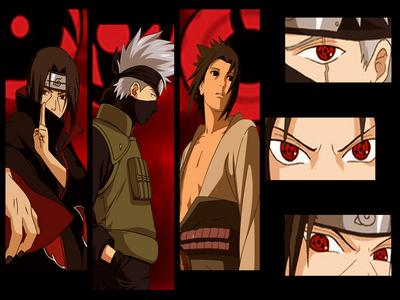Sasuke, kakashi and Itachi from naruto