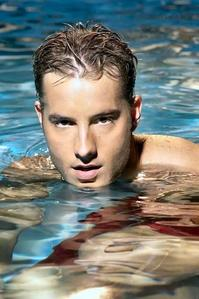 My hottie in a swimming pool (wouldn't mind to be there with him;) )