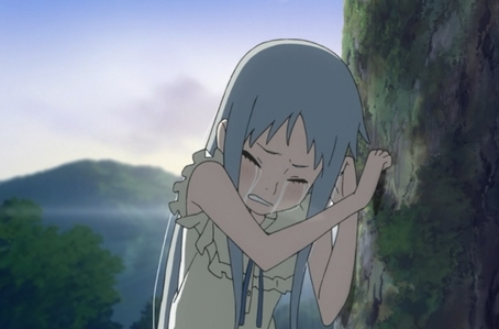 "This might not be the most tragic, but it was so sad! This last scene from AnoHana made me cry for 10 minutes. ""We found you, Menma"" ....okay, i'm just gonna go to a corner to cry alone. Too many feelings right now."