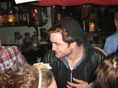 here is my Robert at a bar on New Year's Eve.I'd love to ring in the new jaar with my baby<3